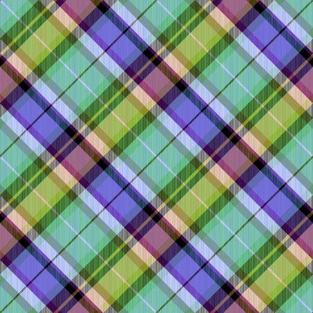crossover: Abstract violet pink green yellow black white checked crossover striped diagonally seamless pattern