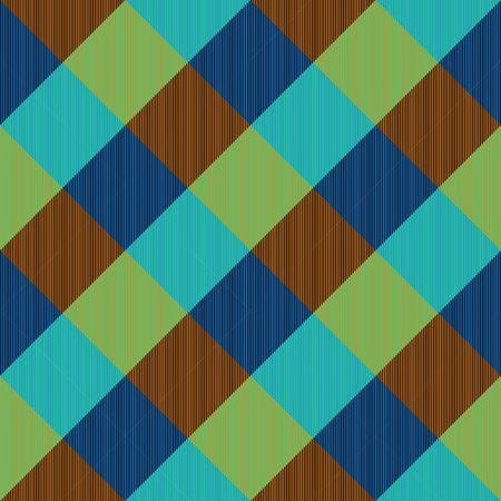 complementary: Abstract turquoise blue brown yellow checkered pattern with complementary colors Stock Photo