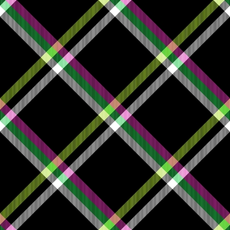 crossover: Abstract red green yellow black white checked crossover striped diagonally seamless pattern