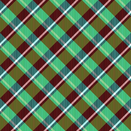 diagonally: Abstract deep green brown red checked crossover striped diagonally seamless pattern Stock Photo