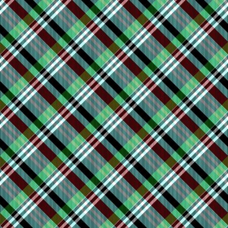 diagonally: Green brown white smoky diagonally striped checked seamless pattern Stock Photo