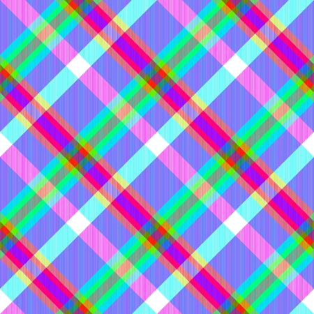 complementary: Skew psychedelic checked seamless pattern by using complementary colors