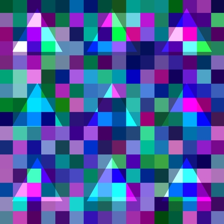 blending: Abstract geometric pixelated background with blending triangles Stock Photo