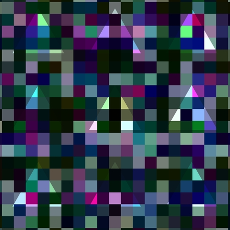 pixelated: Abstract geometric pixelated background with blending triangles Stock Photo