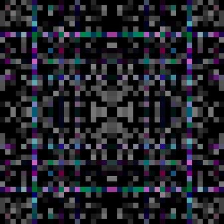pixelation: Abstract dark kaleidoscopic pixelated background