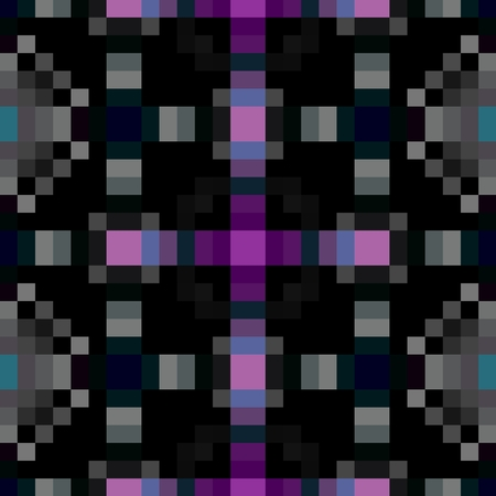 black and pink: Abstract black pink kaleidoscopic pixelated background
