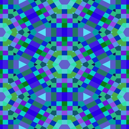 pixelation: Abstract blue violet kaleidoscopic pixelated background