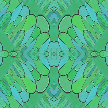 paving stone: Abstract turquoise kaleidoscopic mosaic tile able pattern