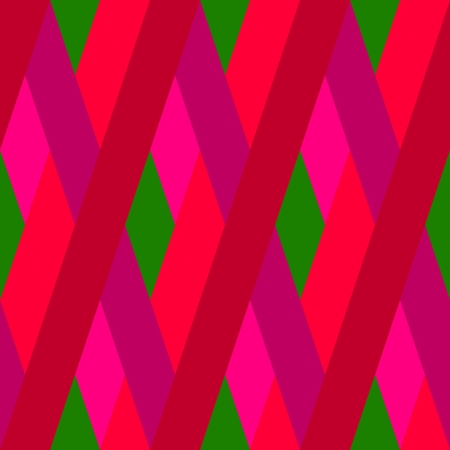 oblique: Abstract seamless red green oblique irregular striped pattern