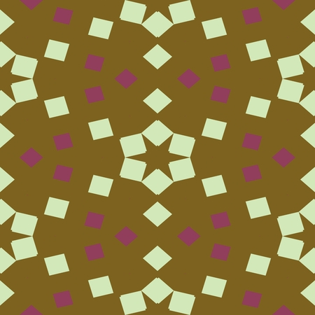 centralized: Abstract white brown rose decorative seamless ornamental geometric pattern usable for wrapping paper print - raster graphic