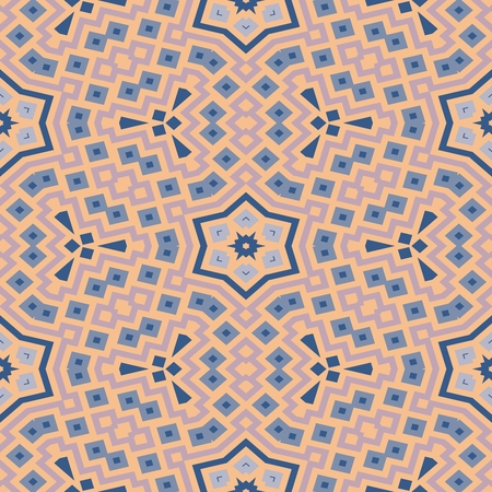 mirroring: Pink beige smoky blue decorative starry floral mirroring background