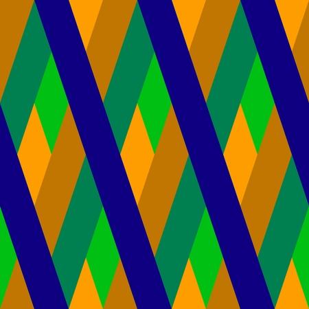 crossover: Golden blue green crossover striped rhombic seamless oblique representative pattern