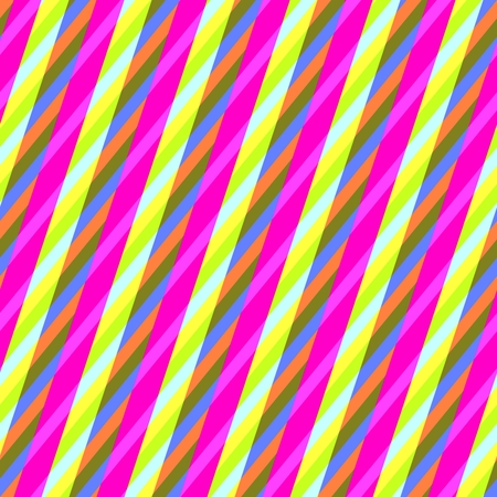 gaudy: Abstract yellow purple seamless oblique irregular striped pattern Stock Photo