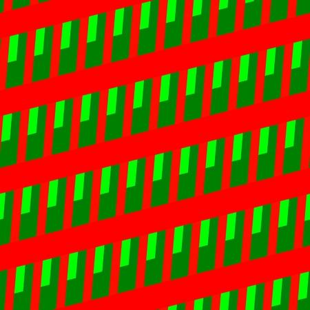 skew: Red green seamless skew striped grid pattern