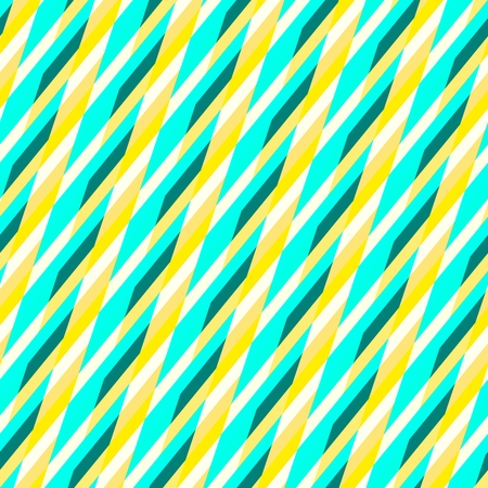 oblique: Abstract seamless yellow white blue oblique striped pattern