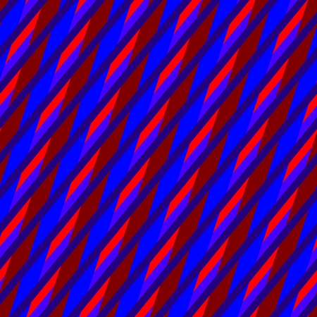 oblique: Abstract red blue seamless oblique irregular striped pattern