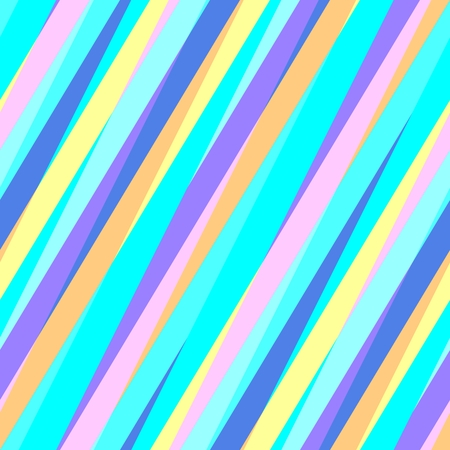 irregular: Abstract seamless blue turquoise pink orange oblique irregular striped pattern Stock Photo