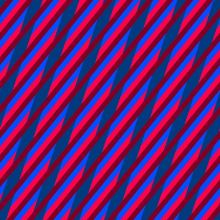 oblique: Abstract red pink blue seamless oblique irregular striped pattern