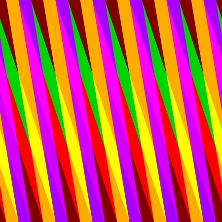 oblique: Abstract seamless pink orange yellow green red oblique irregular striped pattern