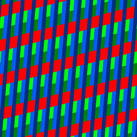 oblique: Red blue turquoise green seamless geometrical oblique pattern