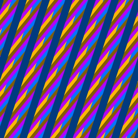 gaudy: Abstract blue red yellow seamless oblique irregular striped pattern