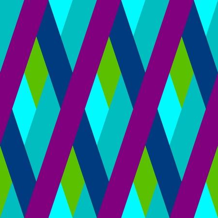garish: Abstract seamless purple blue green oblique irregular striped pattern
