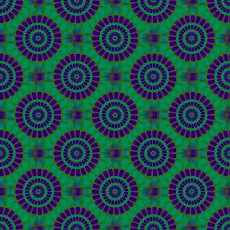 diagonally: Purple blue green kaleidoscopic diagonally seamless pattern