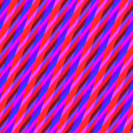 oblique: Abstract seamless pink red blue oblique irregular striped pattern