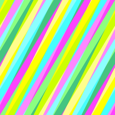 irregular: Abstract seamless yellow turquoise green purple oblique irregular striped pattern Stock Photo