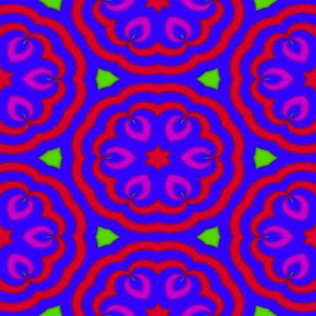 violet red: Red purple violet green floral tileable design