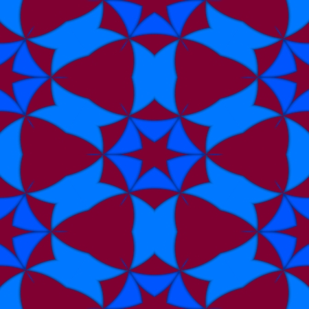 secession: Kaleidoscopic decorative seamless colorful pattern - digitally rendered design