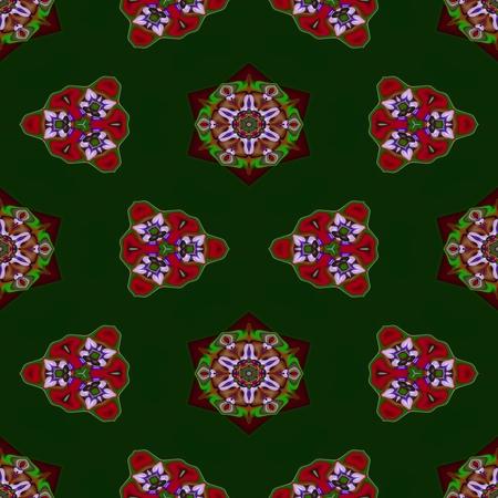 secession: Floral decorative oriental arabic fractal decorative seamless pattern