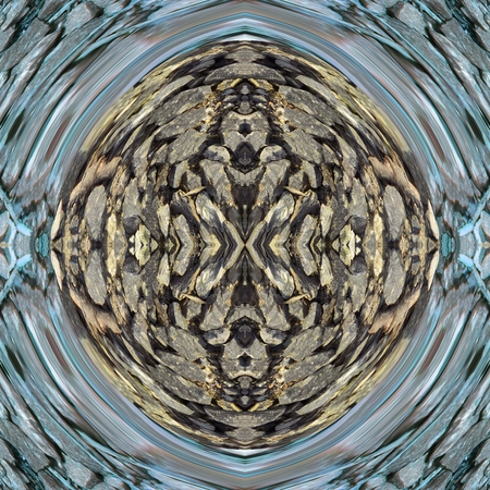 rendered: Kaleidoscopic decorative textured tile - digitally rendered pattern