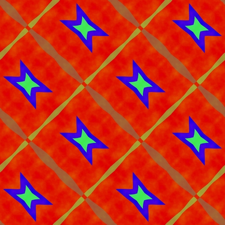 secession: Abstract rainbow colors seamless oblique pattern in op art style