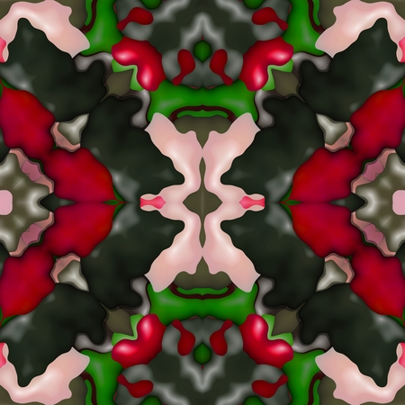 paving stone: Abstract decorative kaleidoscopic seamless colorful floral glossy wallpaper