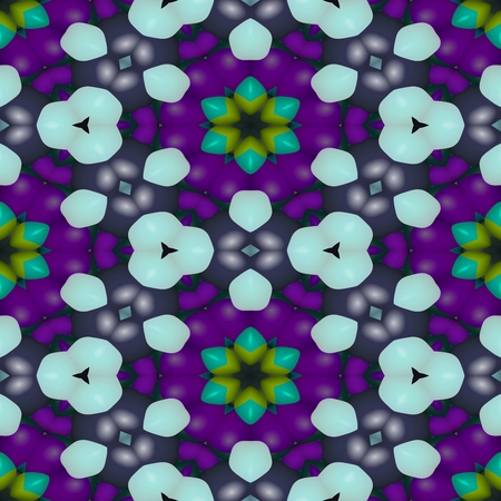 paving stones: Abstract decorative kaleidoscopic seamless colorful floral glossy wallpaper