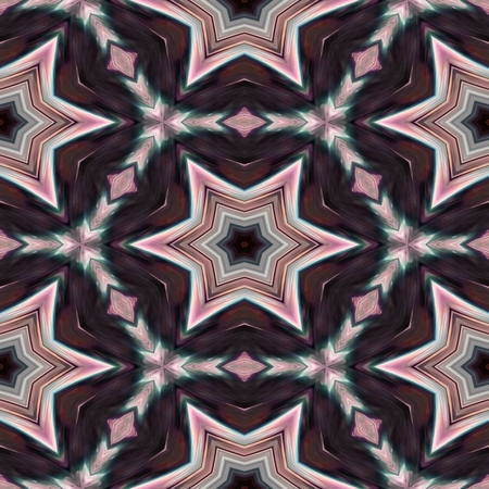 Abstract decorative starry kaleidoscopic marble digitally rendered pattern