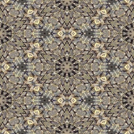 Kaleidoscopic decorative textured tile - digitally rendered pattern