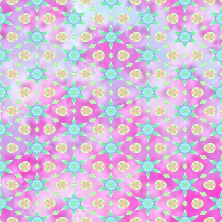 fabled: Pastel bright colorful decorative kaleidoscopic pattern - digitally rendered design