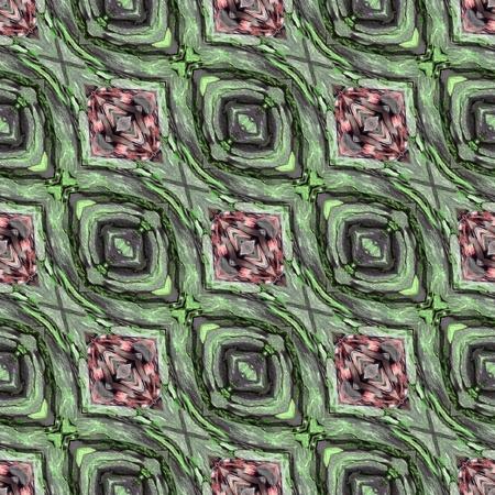 diagonally: Abstract regular diagonally geometric computer generated green gray rose seamless pattern