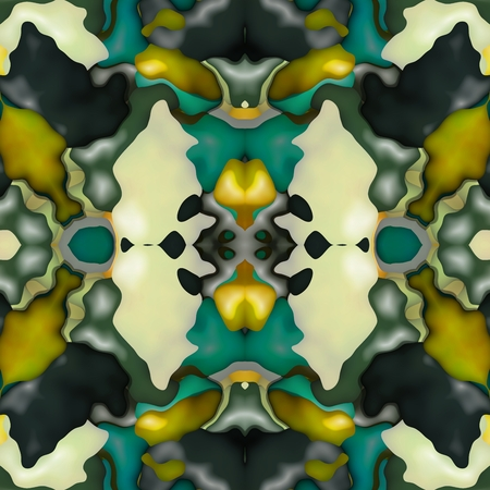 secession: Abstract decorative kaleidoscopic seamless colorful floral glossy wallpaper