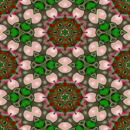 sidebar: Floral decorative oriental arabic fractal decorative seamless pattern