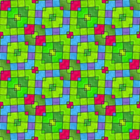 oblique: Abstract colorful decorative oblique mosaic seamless pattern