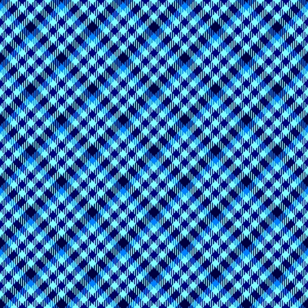 oblique: Blue seamless oblique checkered plaid with fabric texture Stock Photo