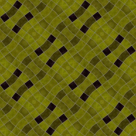 secession: Gold black diagonally mozaic pattern in vintage style - digitally rendered background Stock Photo