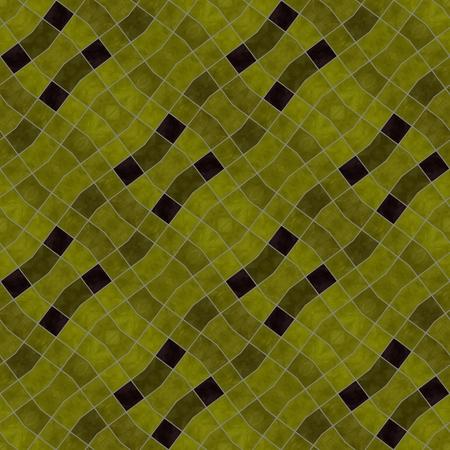 diagonally: Gold black diagonally mozaic pattern in vintage style - digitally rendered background Stock Photo