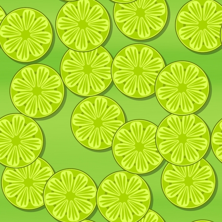 green wallpaper: Yellow green wallpaper with slices of citrus, lime or lemon Stock Photo