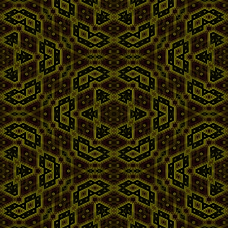 able: Abstract geometric kaleidoscopic fractal mirroring tile able pattern Stock Photo