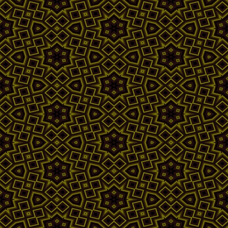 secession: Abstract seamless gold floral kaleidoscopic background Stock Photo