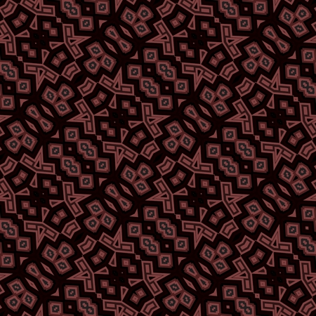 tile able: Lacy decorative undulated seamless diagonally dark vintage pattern - computer generated background